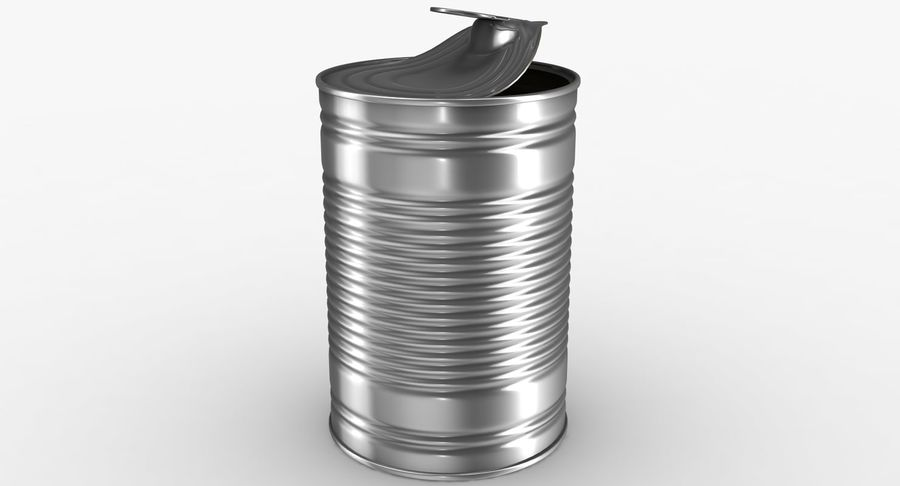 Open Tin Can royalty-free 3d model - Preview no. 5