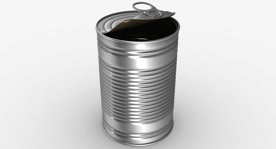 Open Tin Can royalty-free 3d model - Preview no. 3