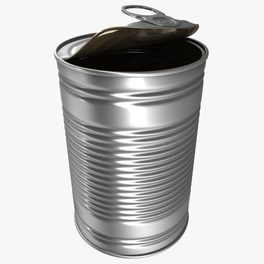Open Tin Can royalty-free 3d model - Preview no. 1