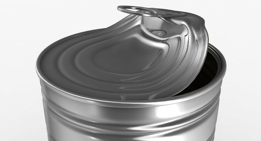 Open Tin Can royalty-free 3d model - Preview no. 6