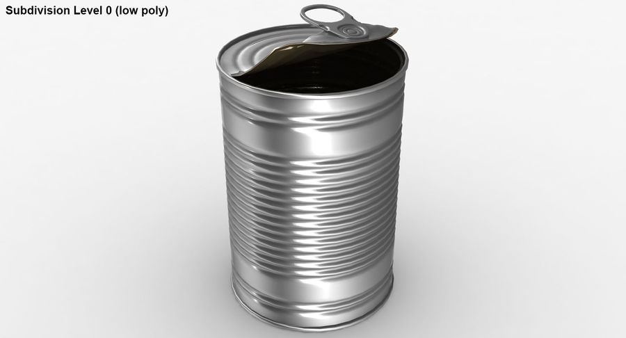 Open Tin Can royalty-free 3d model - Preview no. 17