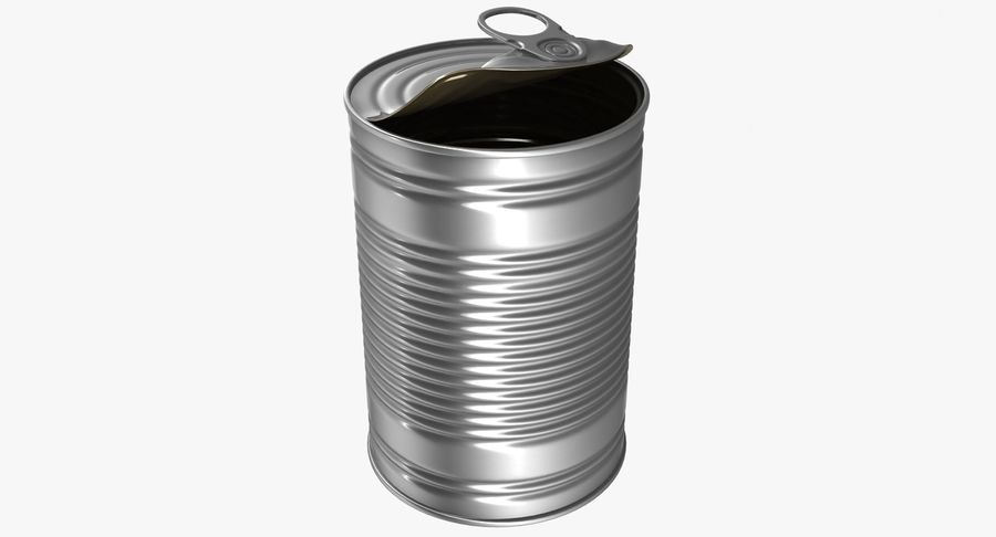 Open Tin Can royalty-free 3d model - Preview no. 2