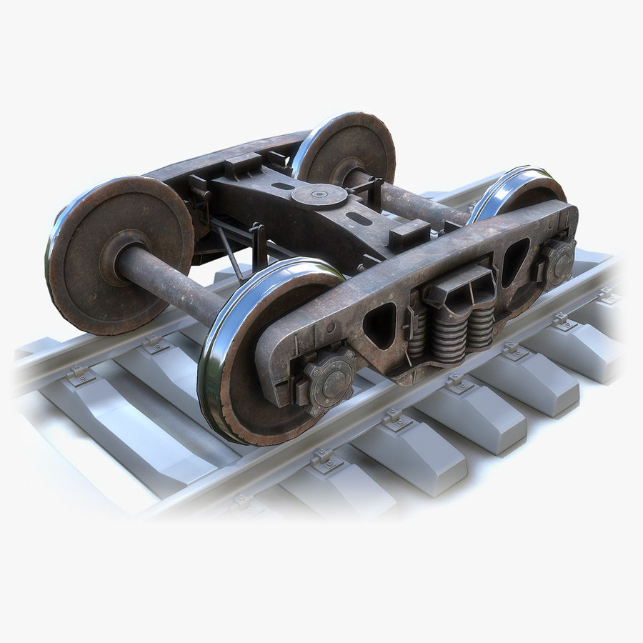 Bogie Cargo Low-Poly royalty-free 3d model - Preview no. 1