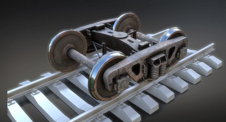 Bogie Cargo Low-Poly royalty-free 3d model - Preview no. 2