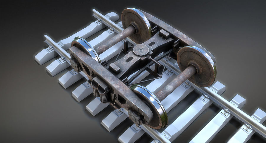 Bogie Cargo Low-Poly royalty-free 3d model - Preview no. 4