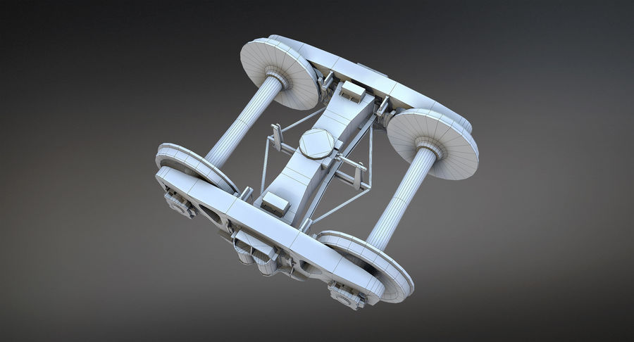 Bogie Cargo Low-Poly royalty-free 3d model - Preview no. 7