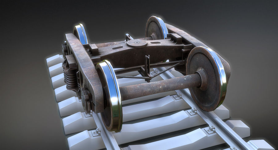 Bogie Cargo Low-Poly royalty-free 3d model - Preview no. 5