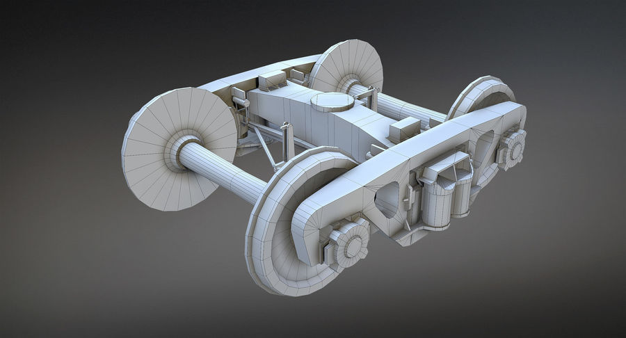 Bogie Cargo Low-Poly royalty-free 3d model - Preview no. 6