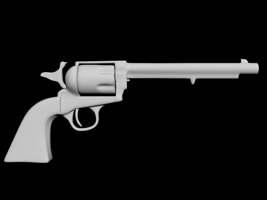 Colt Revolver royalty-free 3d model - Preview no. 9