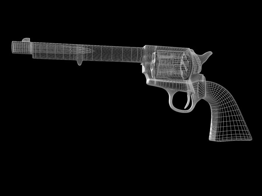 Colt Revolver royalty-free 3d model - Preview no. 11