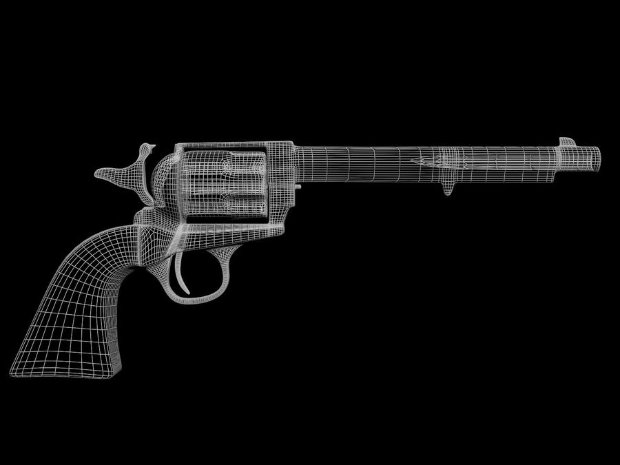 Colt Revolver royalty-free 3d model - Preview no. 12