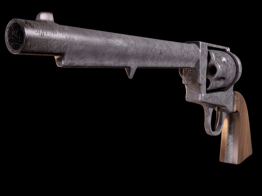 Colt Revolver royalty-free 3d model - Preview no. 4