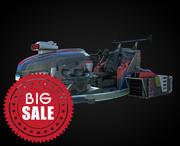 moto de fantasia 3d model