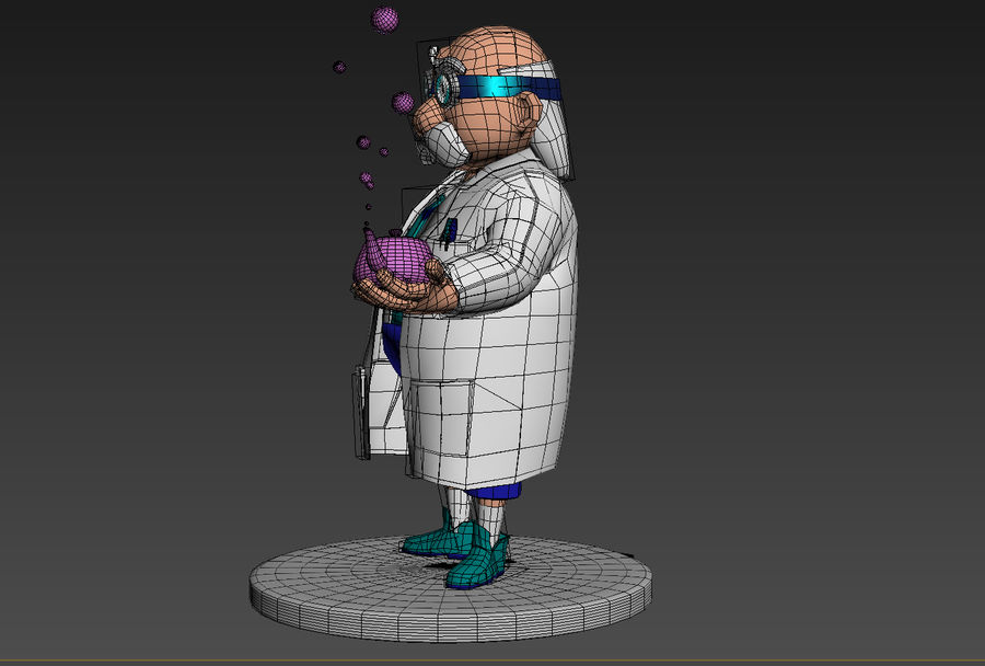 Doctor royalty-free 3d model - Preview no. 8