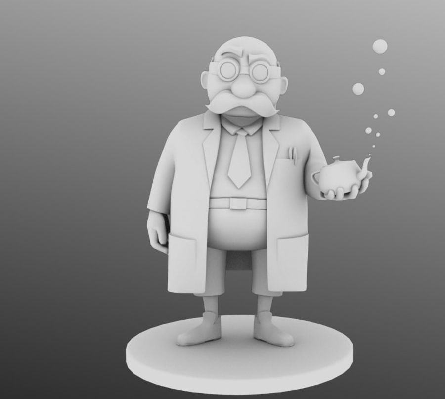 Doctor royalty-free 3d model - Preview no. 3