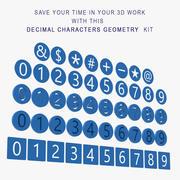 Dezimalzeichen Geometrie 3d model