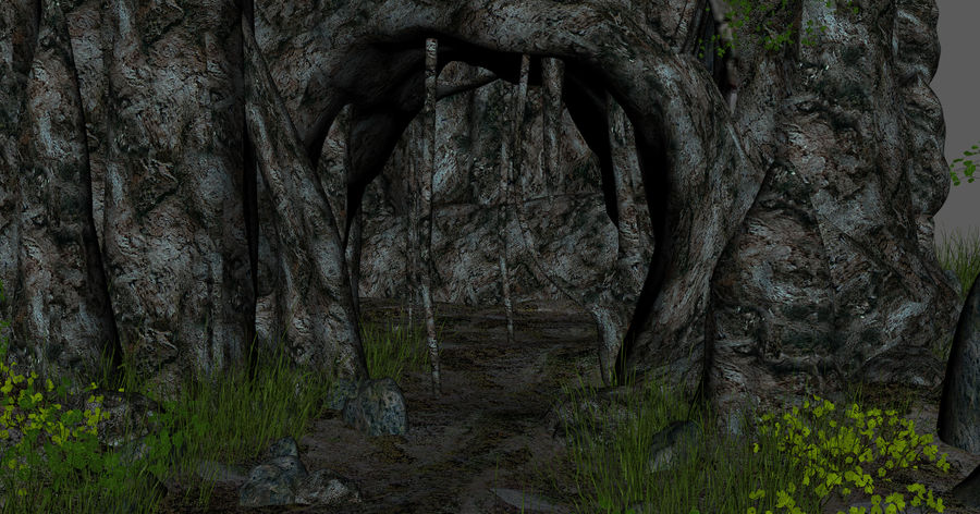 Fantasy Cave royalty-free 3d model - Preview no. 9