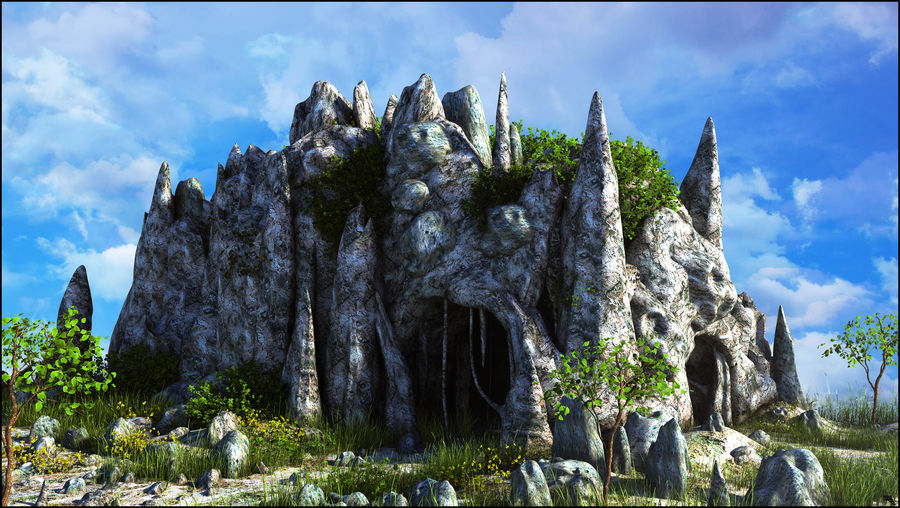 Fantasy Cave royalty-free 3d model - Preview no. 1