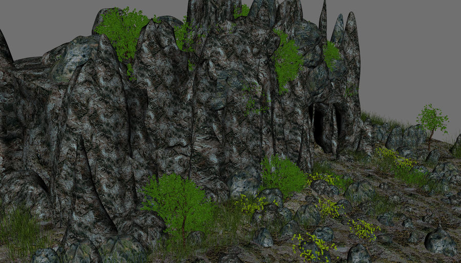 Fantasy Cave royalty-free 3d model - Preview no. 8