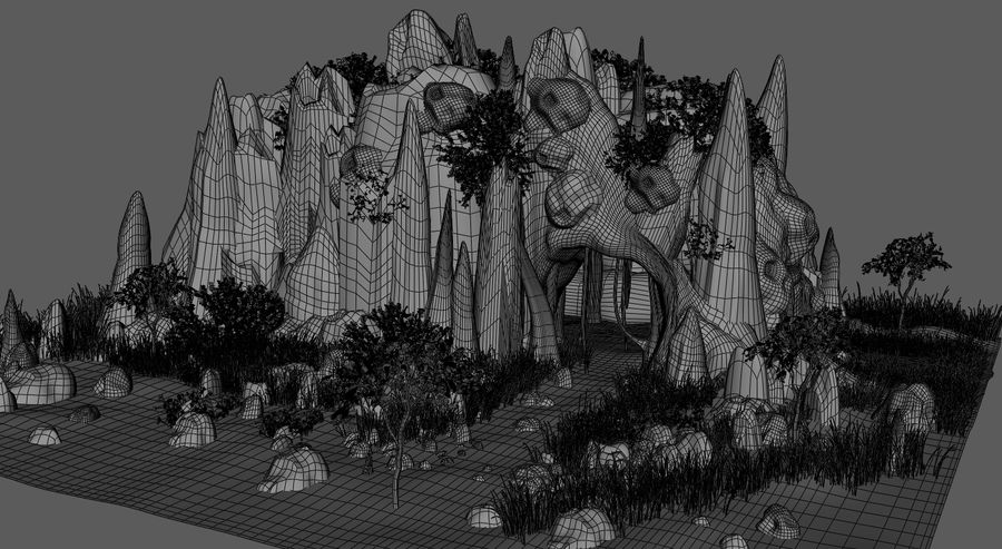 Fantasy Cave royalty-free 3d model - Preview no. 13