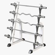Skivstång Rack 3d model