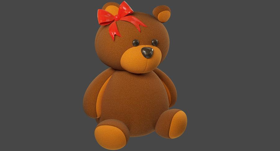 毛绒玩具熊 royalty-free 3d model - Preview no. 3
