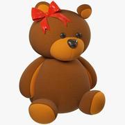 Nadziewane Niedźwiedź 3d model