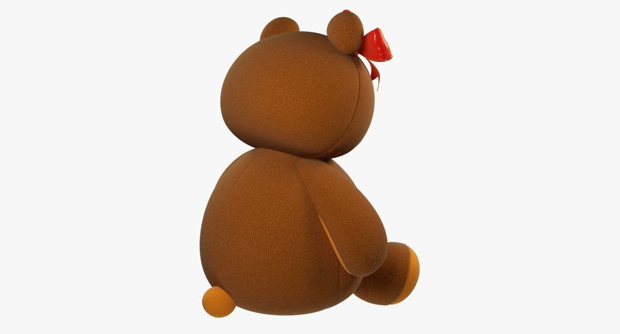 毛绒玩具熊 royalty-free 3d model - Preview no. 9