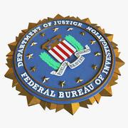 Logo du sceau du FBI 3d model