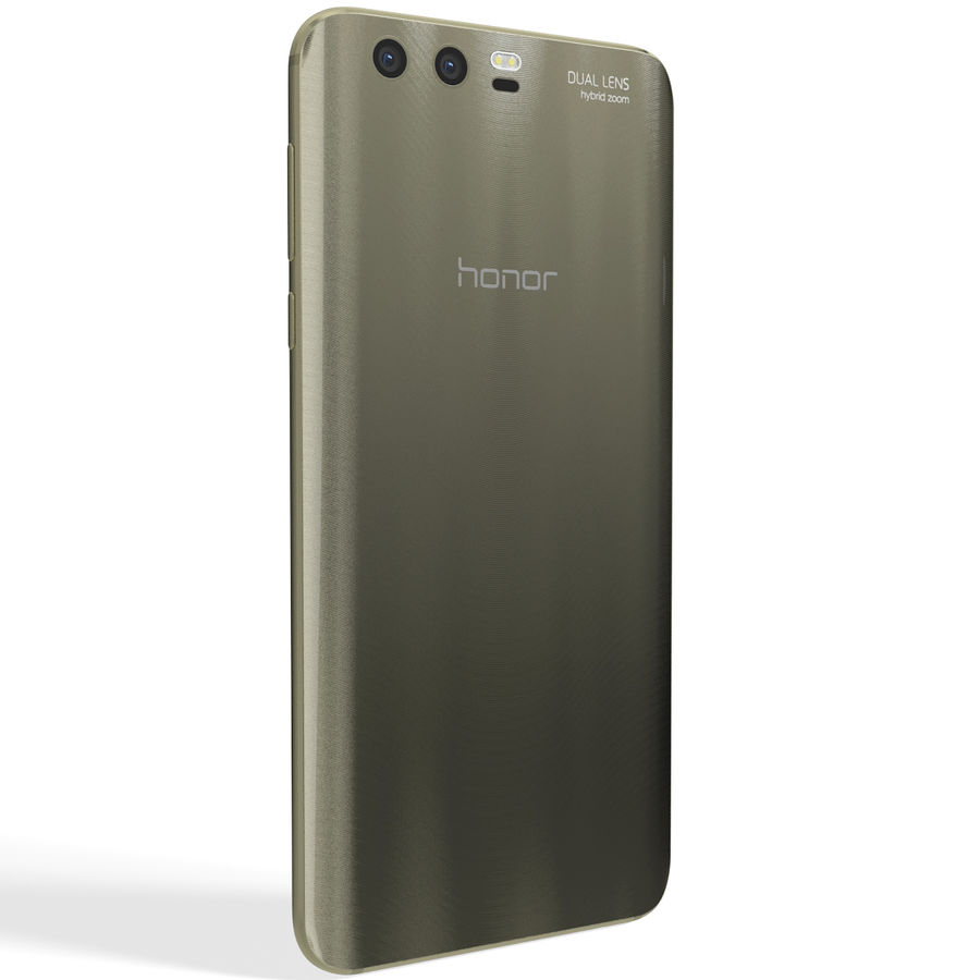 Huawei Honor 9 Gold royalty-free 3d model - Preview no. 5