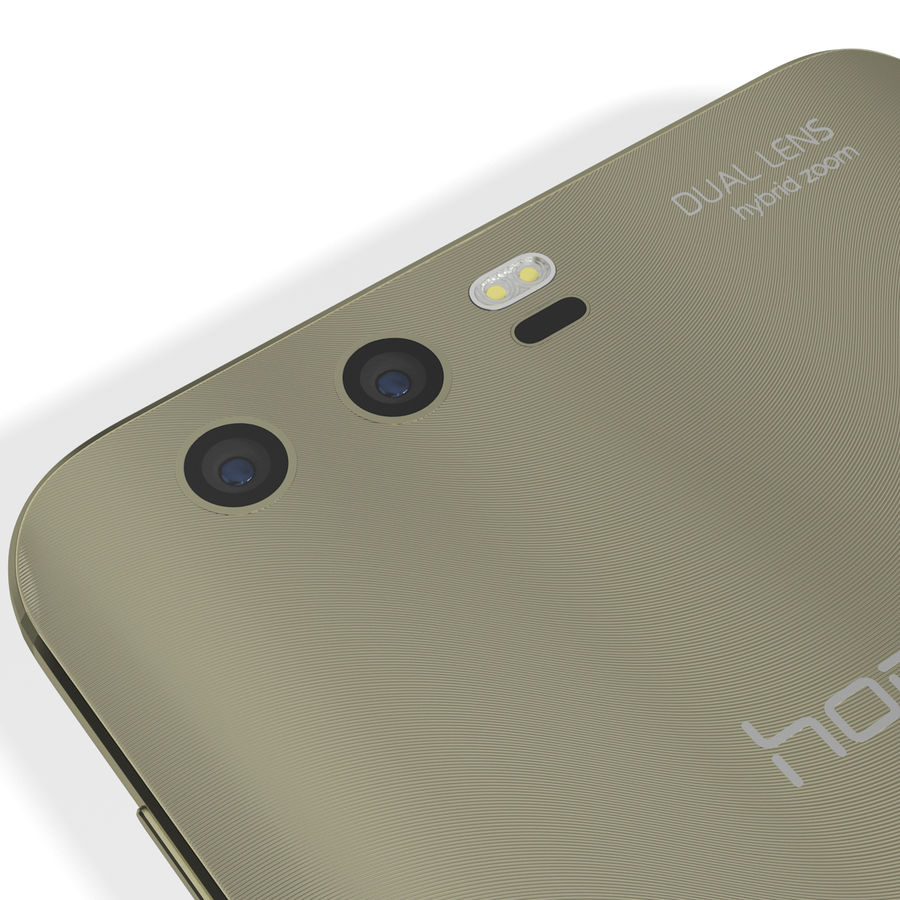 Huawei Honor 9 Gold royalty-free 3d model - Preview no. 14