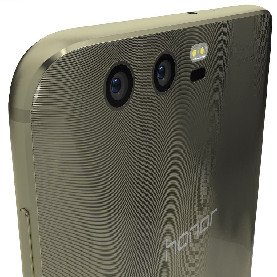 Huawei Honor 9 Gold royalty-free 3d model - Preview no. 7