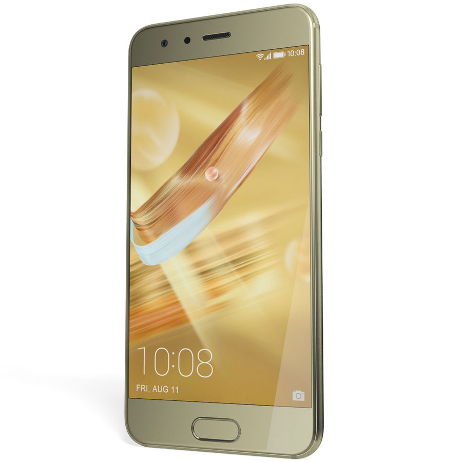 Huawei Honor 9 Gold royalty-free 3d model - Preview no. 6