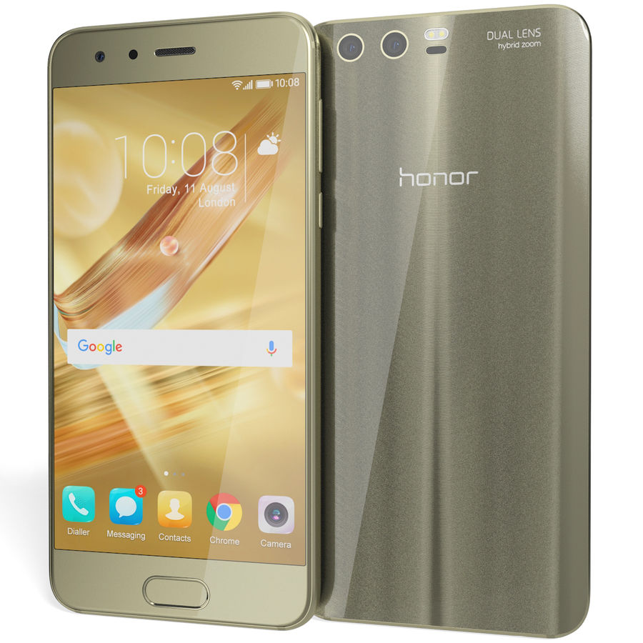 Huawei Honor 9 Gold royalty-free 3d model - Preview no. 4