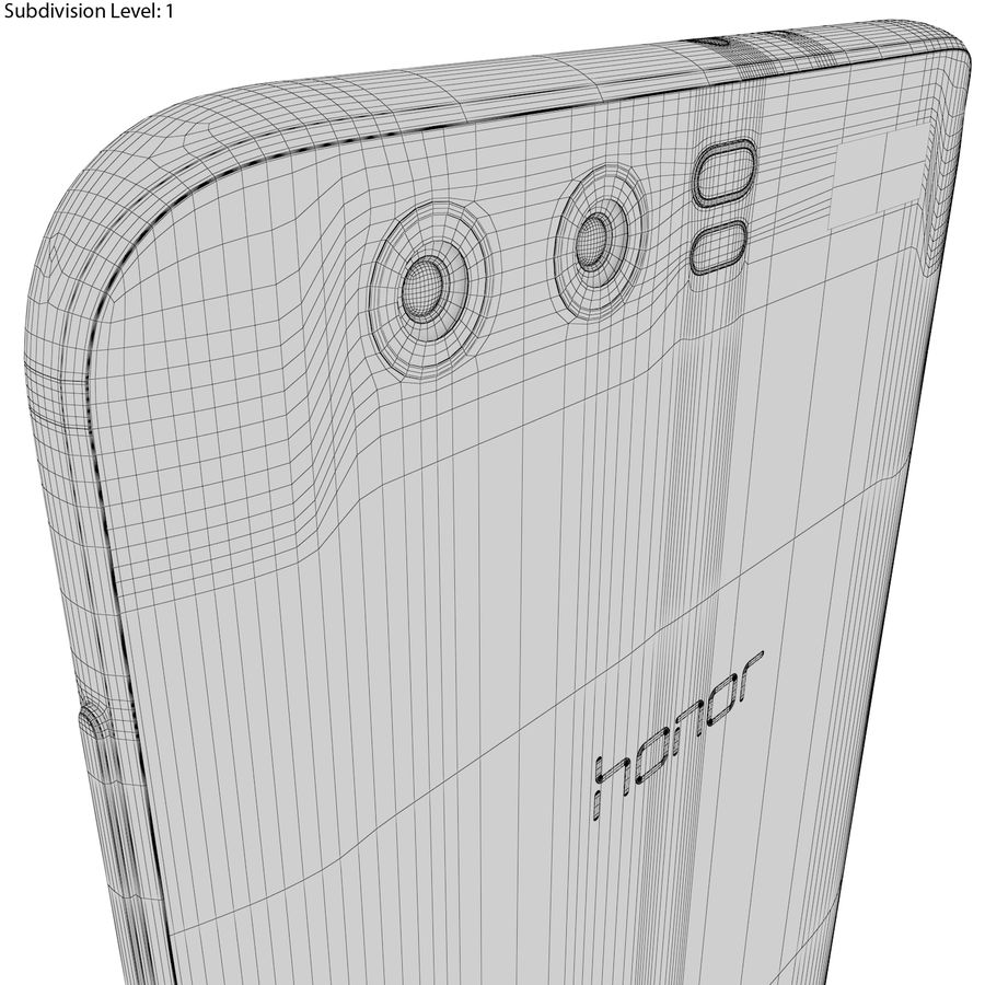 Huawei Honor 9 Gold royalty-free 3d model - Preview no. 23