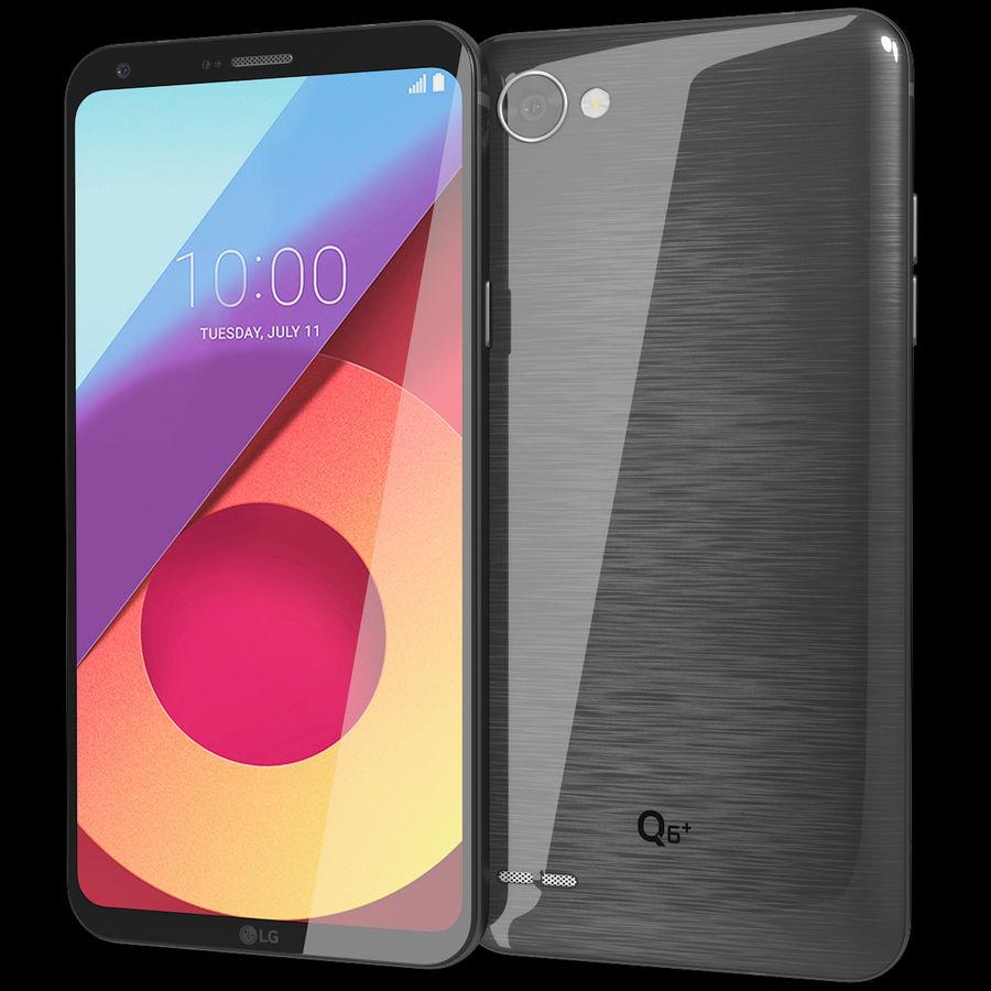 LG Q6 Plus Astro Black royalty-free 3d model - Preview no. 2