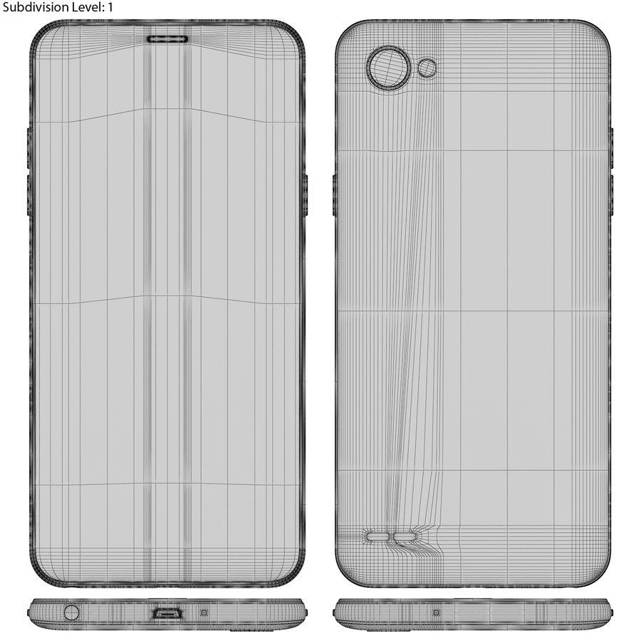LG Q6 Plus Astro Black royalty-free 3d model - Preview no. 18