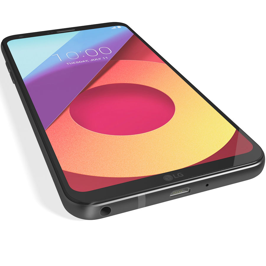 LG Q6 Plus Astro Black royalty-free 3d model - Preview no. 11