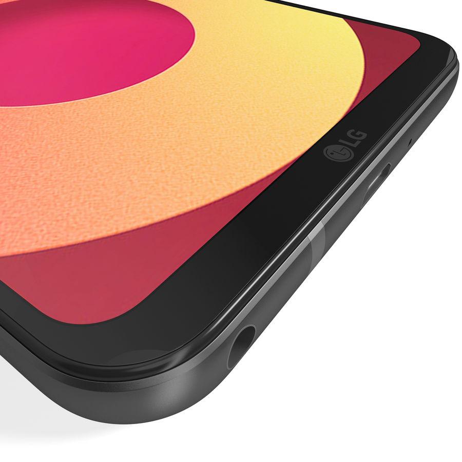 LG Q6 Plus Astro Black royalty-free 3d model - Preview no. 16