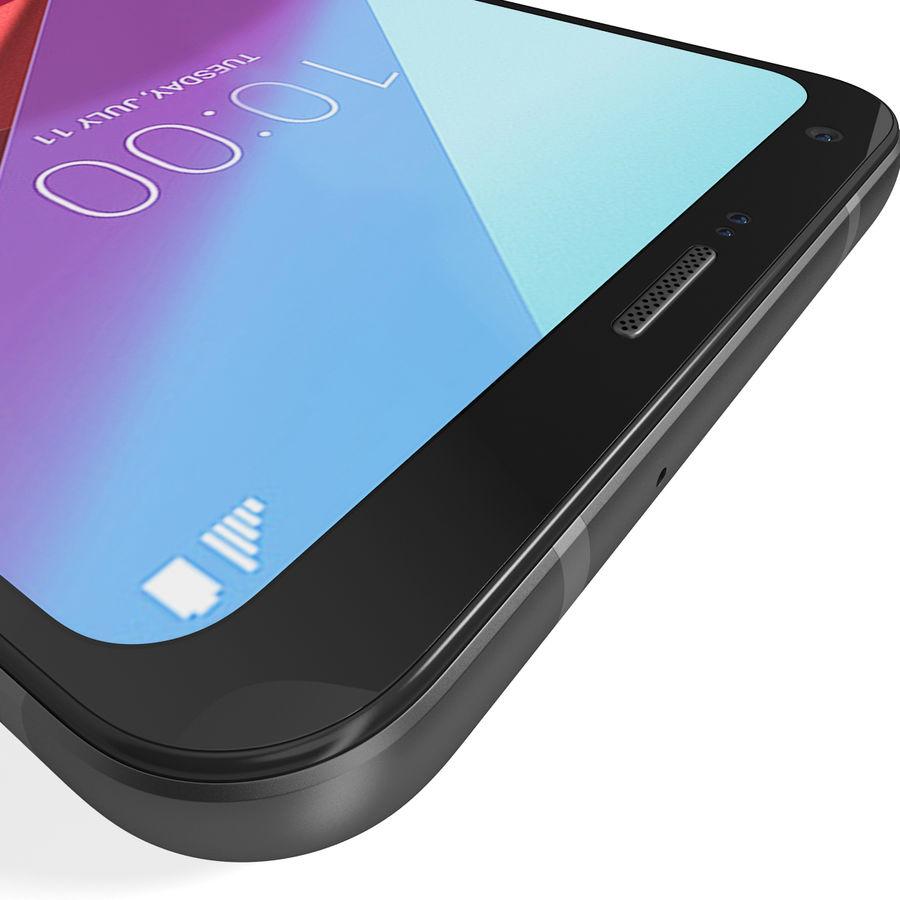 LG Q6 Plus Astro Black royalty-free 3d model - Preview no. 15