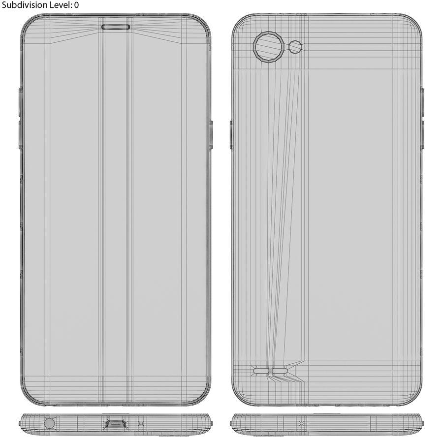 LG Q6 Plus Astro Black royalty-free 3d model - Preview no. 17