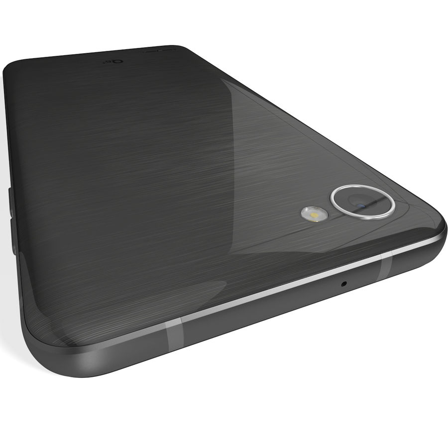 LG Q6 Plus Astro Black royalty-free 3d model - Preview no. 8