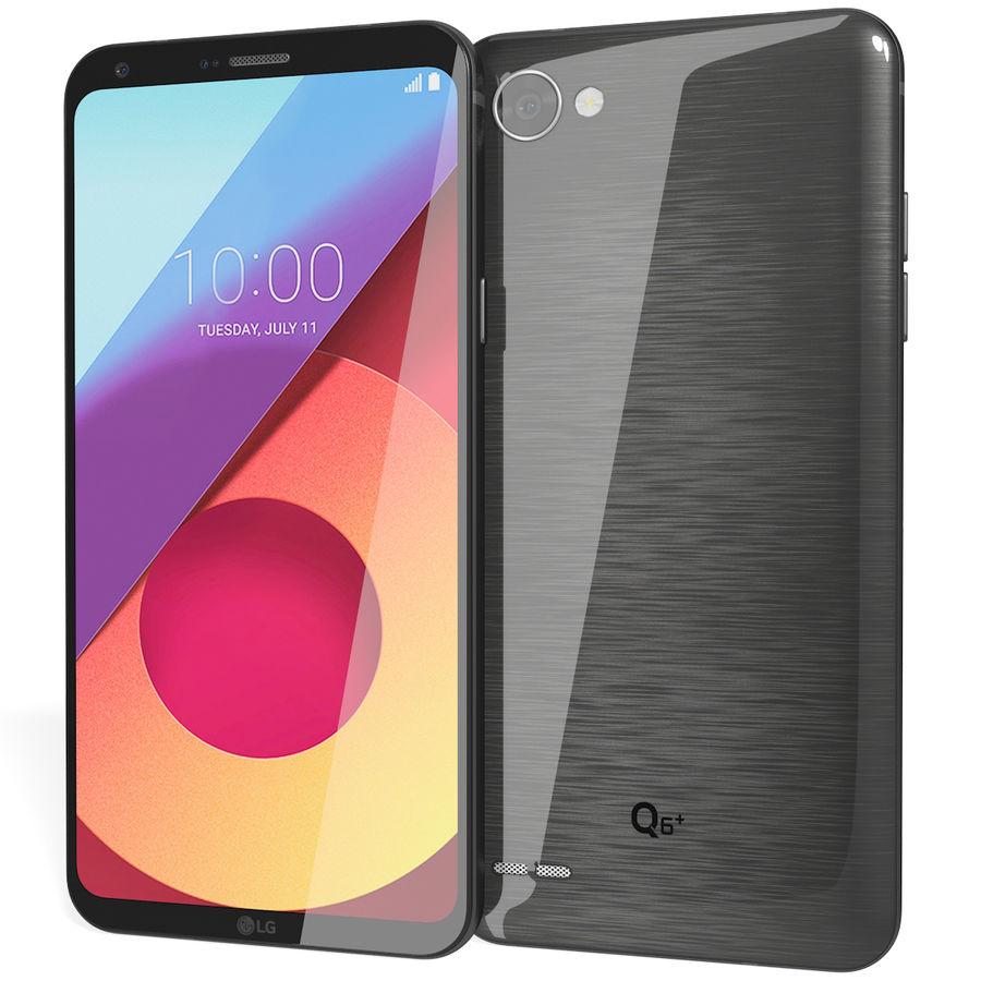 LG Q6 Plus Astro Black royalty-free 3d model - Preview no. 3