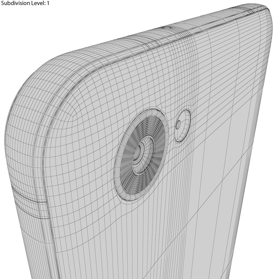 LG Q6 Plus Astro Black royalty-free 3d model - Preview no. 22