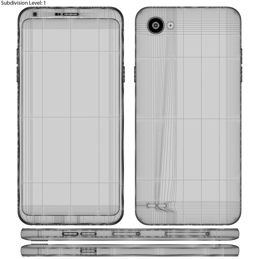 LG Q6 Plus Astro Black royalty-free 3d model - Preview no. 20