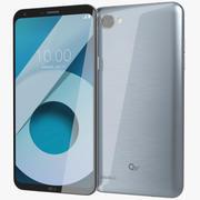 LG Q6 Plus冰白金 3d model