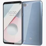 LG Q6 Plus Marine Blue 3d model
