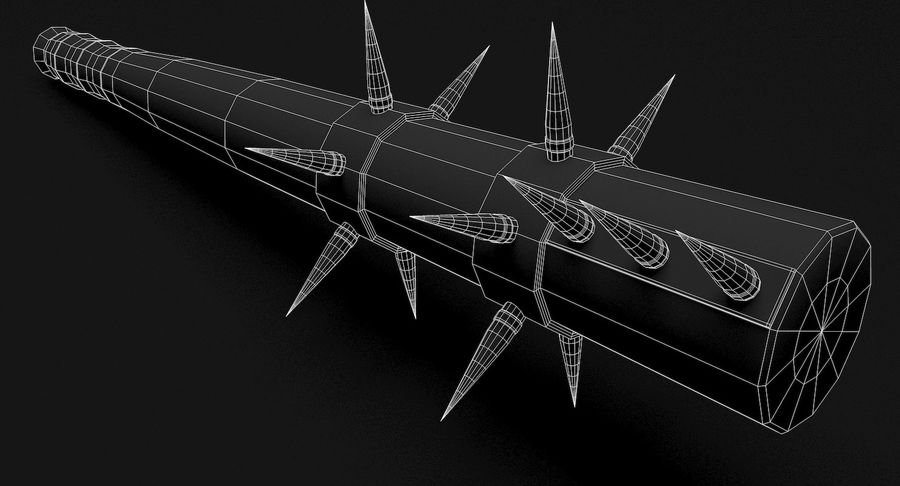 Arme de chauve-souris royalty-free 3d model - Preview no. 12