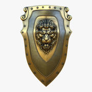 Kite Shield A Gold (Textured) 3d model