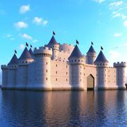 Medeltida slott 3d model